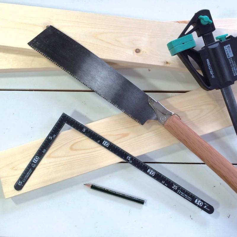 [手工具]①墨付け・カット~測定工具とのこぎり~
